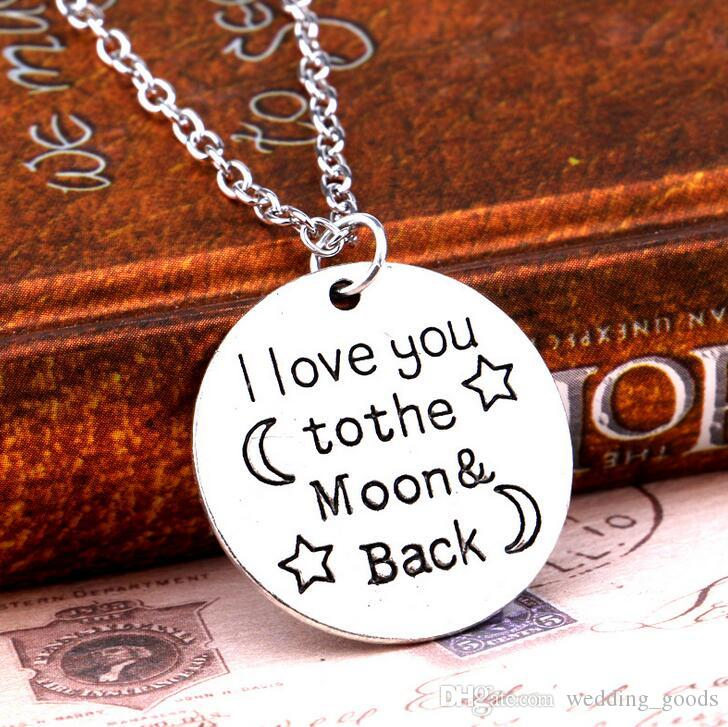 New hot engraved engraved alphabet round text Grandmother pendant necklace WFN006 with chain a