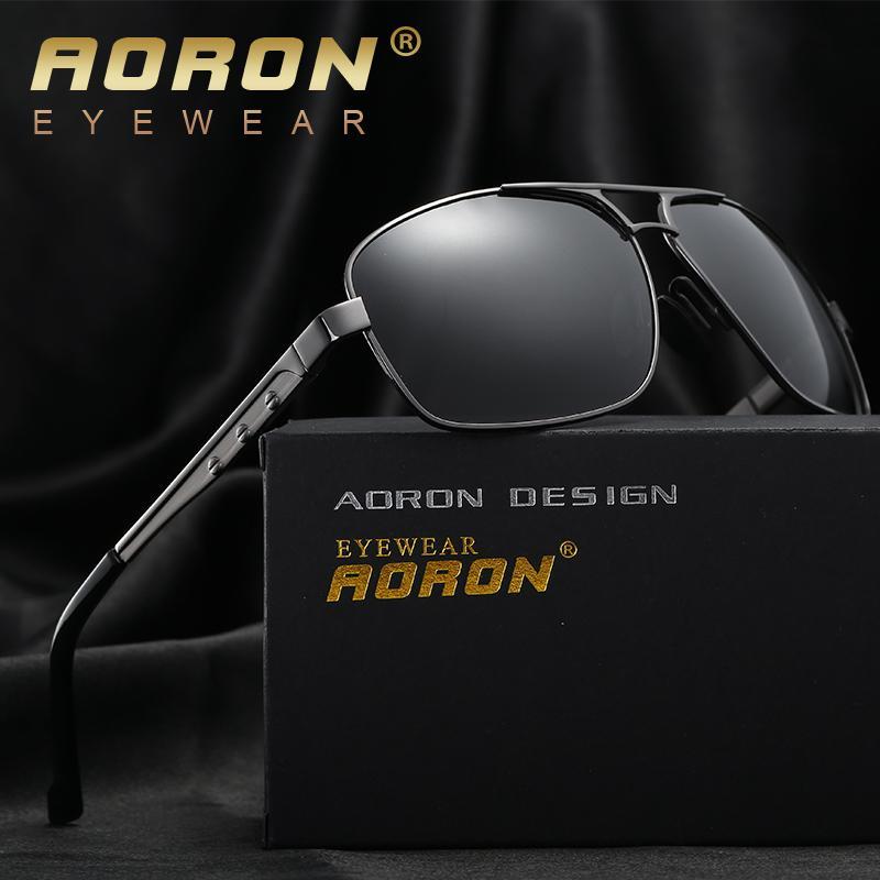 211d831c80 AORON Men Polarized Sunglasses Original Box Classic Brand Designer ...