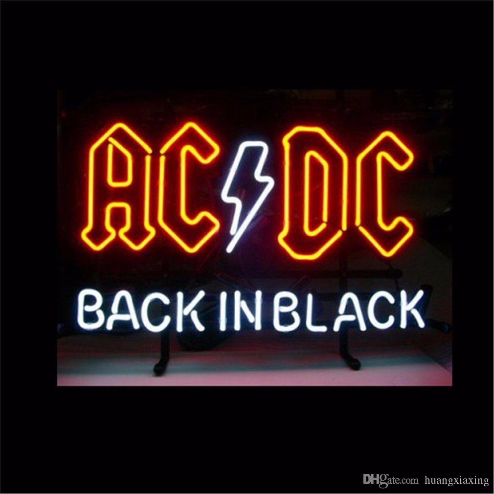 2018 new ac dc back in black glass neon beer signs pub bars neon 2018 new ac dc back in black glass neon beer signs pub bars neon light red blue 17 19 32 from huangxiaxing 7976 dhgate aloadofball Gallery