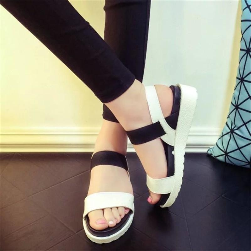 ec95c006d34aae Summer Shoes Woman Hot Selling Sandals Women 2016 Peep Toe Flat Shoes Roman  Sandals Women Sandals Sandalias Mujer Sandalias X278 Bamboo Shoes High  Heels ...