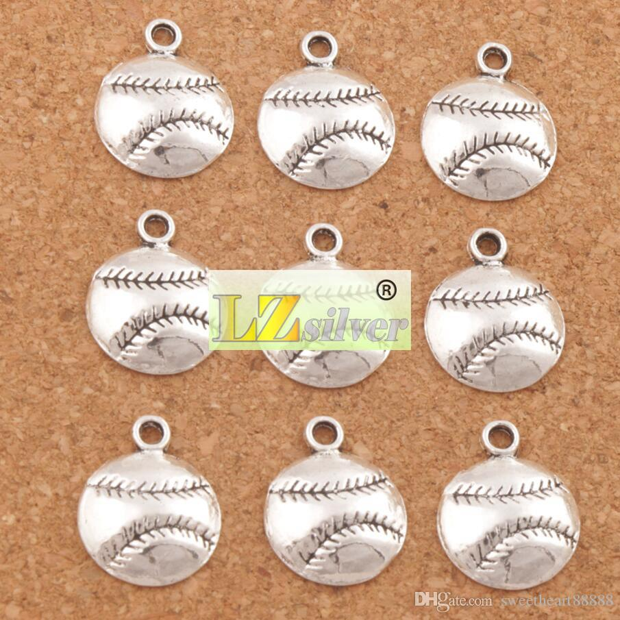 Baseball Sports Charms Pendants Antique Silver Jewelry DIY L286 14.5x18 mm Jewelry Findings Components