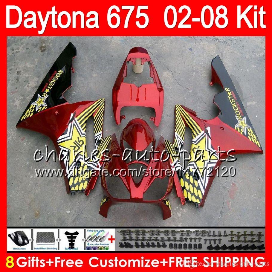8 Gifts For Triumph Daytona 675 02 03 04 05 06 07 08 Daytona675 red 4HM9 Daytona 675 2002 2003 2004 2005 2006 2007 2008 Fairing