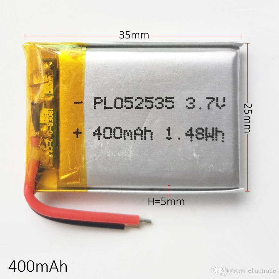 Модель: 502535 3.7 В 400 мАч Литий-Полимерная Аккумуляторная Батарея LiPo для Mp3 наушников DVD GPS Камера мобильного телефона PSP Игрушки