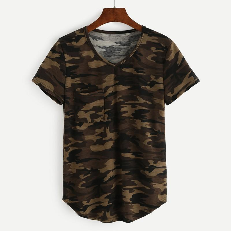 Wholesale 2017 camouflage printed t shirts women army for Printed t shirts wholesale
