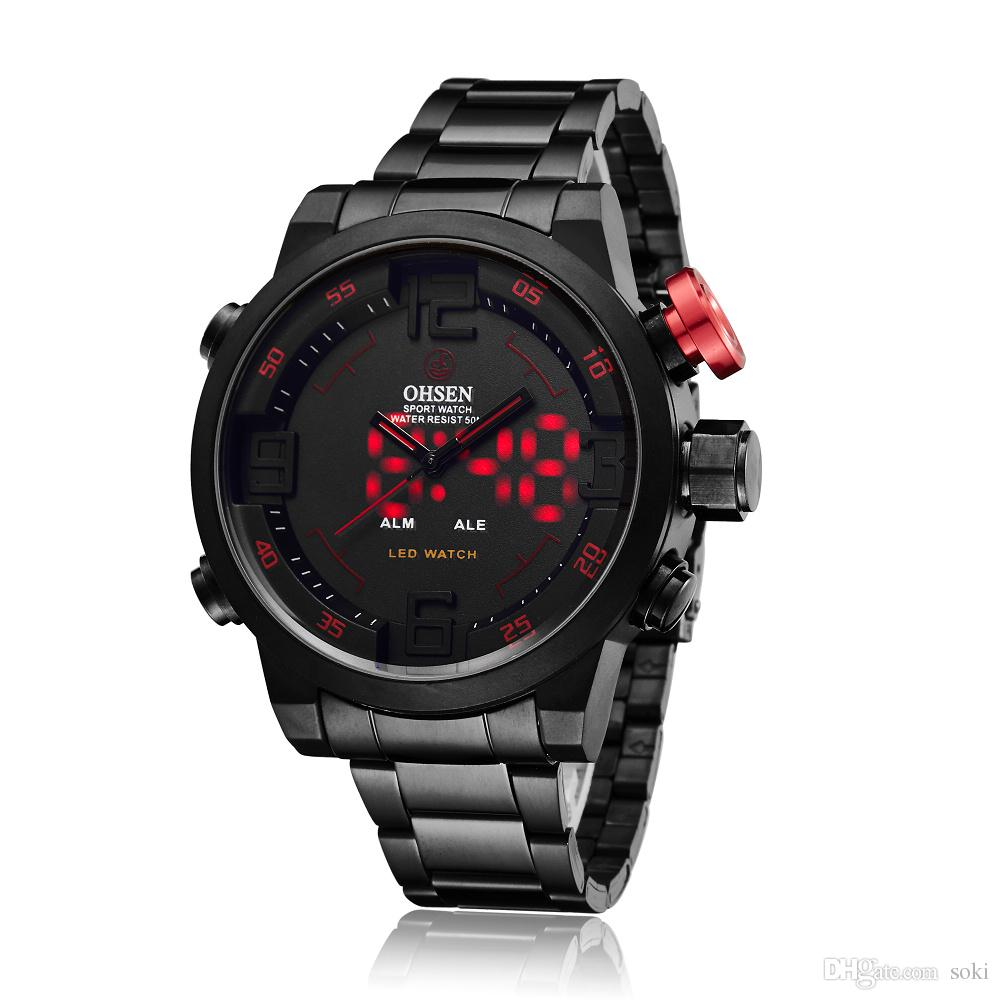 fashion men luxury force item from red wrist racing sports watch military army in watches on mens sport officer quartz