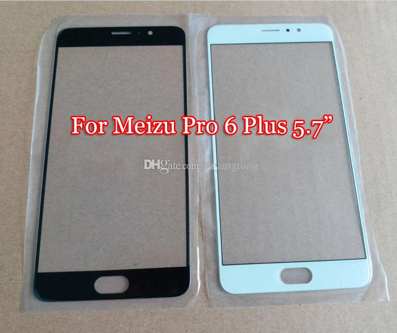 Haute qualité Meizu Pro 6 Plus Remplacement LCD Avant Écran Tactile Avant En Verre Lentille Extérieure pour Meizu Pro6 Plus M686 Couverture extérieure En Verre Couverture M686