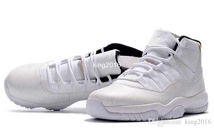 2017 Cheap 11 XI White Black Cat Owl Basketball Shoes For Men,High Quality Mens 11s Sports Sneakers Trainers Shoe Size 7-13