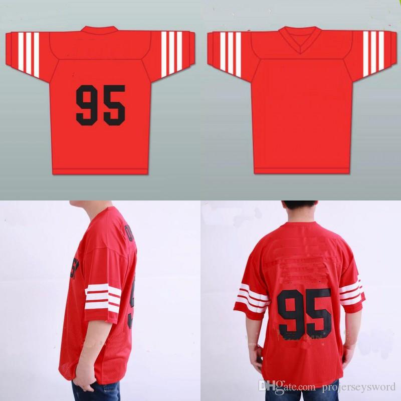 08f96f674 2019 Mens STEENBERGE Prodigy #95 Hennessy Queens Bridge Rugby Movie Jersey  Red 100% Stitched Embroidery Logos Jerseys From Projerseysword, $24.37 |  DHgate.