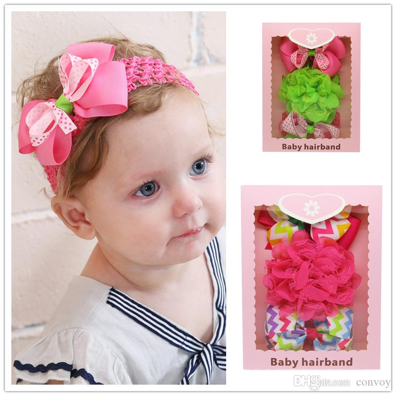 Children Bow Lace Hairband Girl Bix Lace Hair Accessories Headband