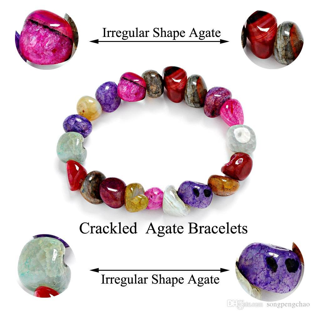 New Fashion Sexy Women Bracelets Amethyst Jasper Agate Lazuli Reiki Bracelets 7 Chakra Healing Crystals Natural Stone Chips Single Strand