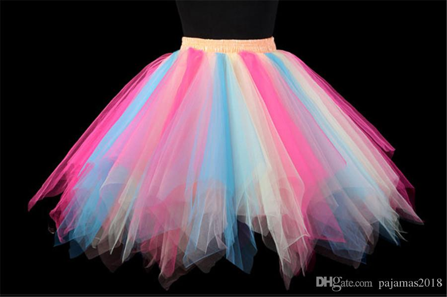 Compre Rainbow Tutu Para Mujer Neón Pequeñas Damas Junior Ballet ...