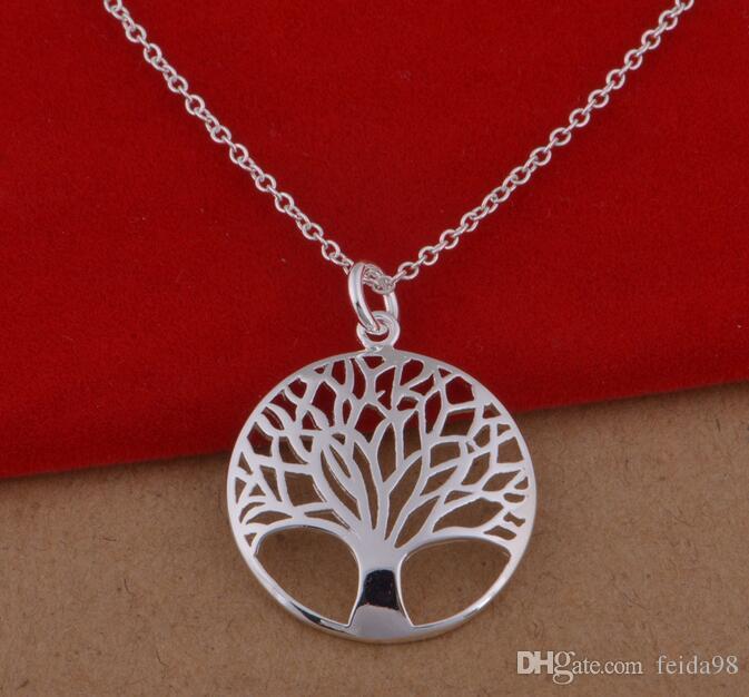 Articolo 925 Il prezzo all'ingrosso 18inch della collana 18inch della collana del pendente dell'albero di vita placcato più popolare di modo più popolare libera il trasporto