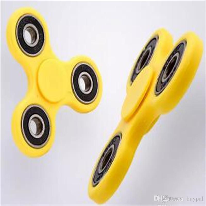 EDC Fidget Spinner Finger Spinner Jouet Main Spinner Tri HandSpinner Jouet Pour Décompression Anxiété Jouets Avec le paquet Tournez environ 1 ~ 1.5minute