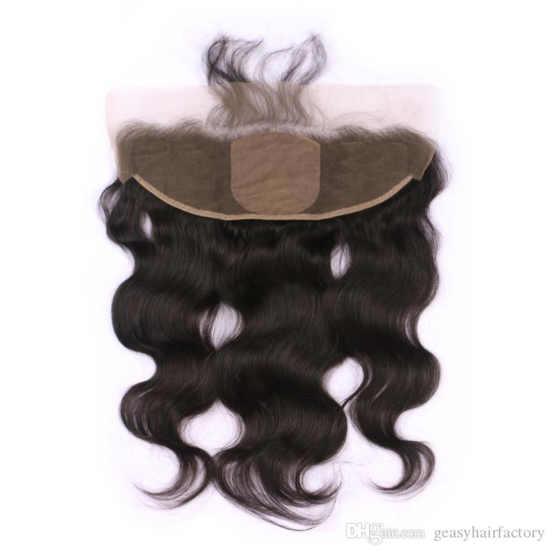 Mongolian Body Wave Human Hair Weave Bundles With Silk Base Frontal Lace Closure 13x4 Bleached Knots 100% Human Hair LaurieJ Hair
