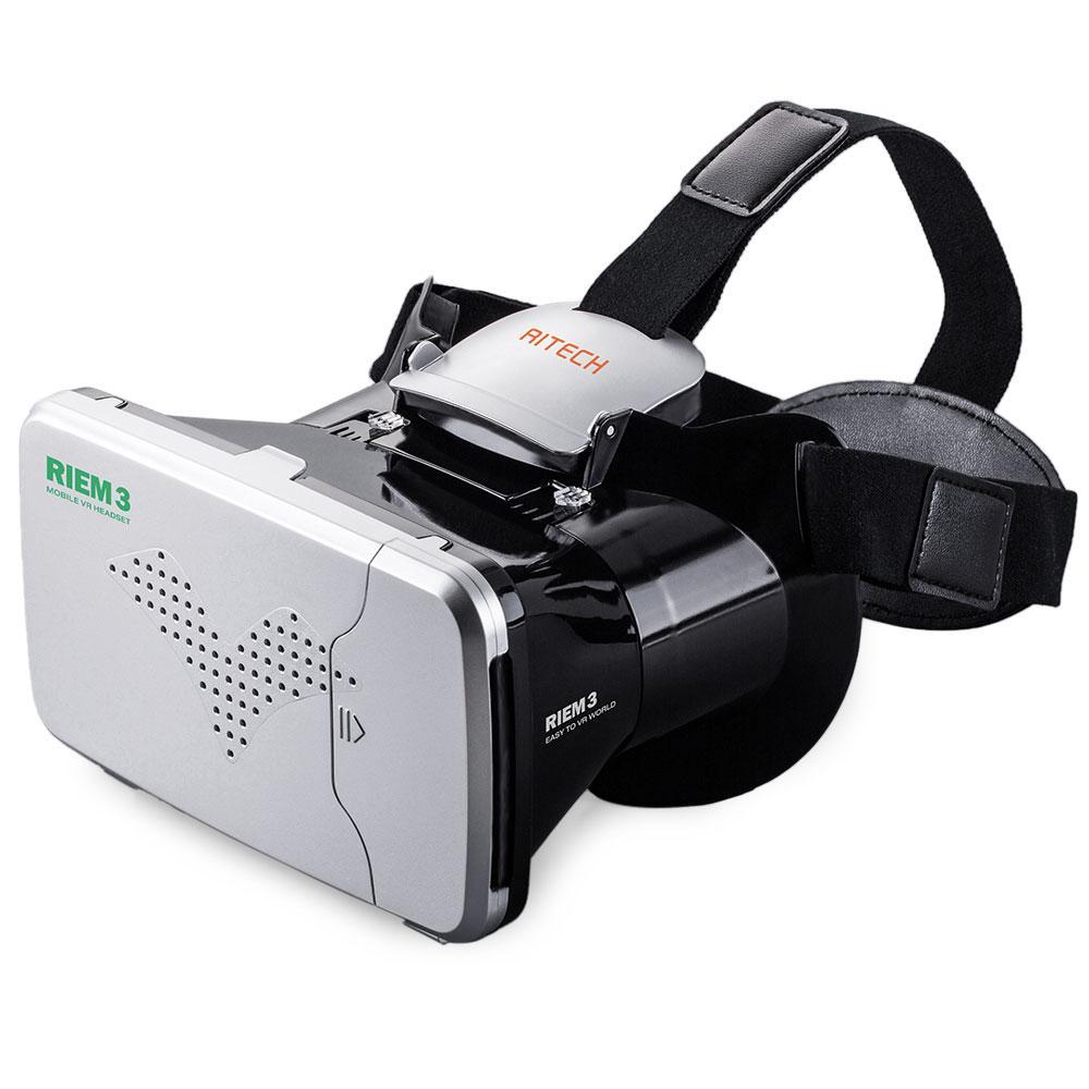 582cbdd1b4071 Compre Atacado RITECH Riem 3 Realidade Virtual 3D VR Cabeça Montada Óculos  Realidade Virtual Fone De Ouvido Para 360 Visualização E Jogo Para  Smartphone De ...