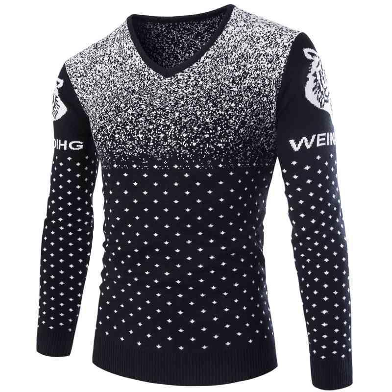 Wholesale 1915 Snowflake Fashion Men Pullover Knitted Sweater