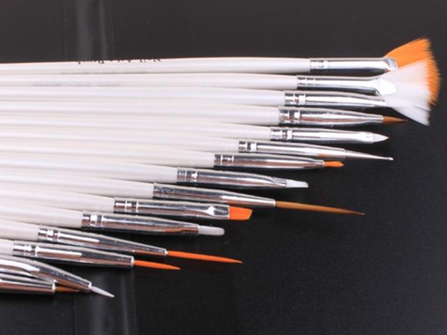 거짓 네일 팁 UV 네일 젤 폴란드어를위한 / 많은 빠른 배송 / 설정 네일 아트 장식 브러쉬 세트 도구 전문 페인팅 펜