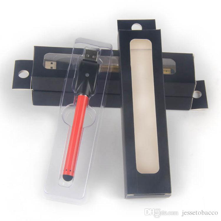 Vape caneta e-cig vaporizer 510 bud touch bateria mini slim sem abrir auto baterias buttonless para ce3 cartucho atomizador vapes
