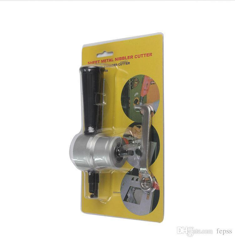 2016 Couteau Tactique Auto Drill Substation Poinçonnage Voiture pour Outil de Conversion Audio En Plastique Plaque Grignoteuse Cutter Aluminium Fer Métal En Gros