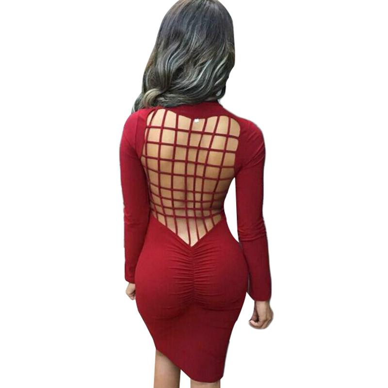 b07bf5898 2019 Free Selling Sexy Club Stretch Laced Back Cage Winter Party ...