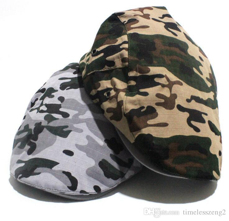 Fashion Camouflage Summer Caps Sun Hats For Men Women High Quality Casual Cotton Beret Fashion Boina