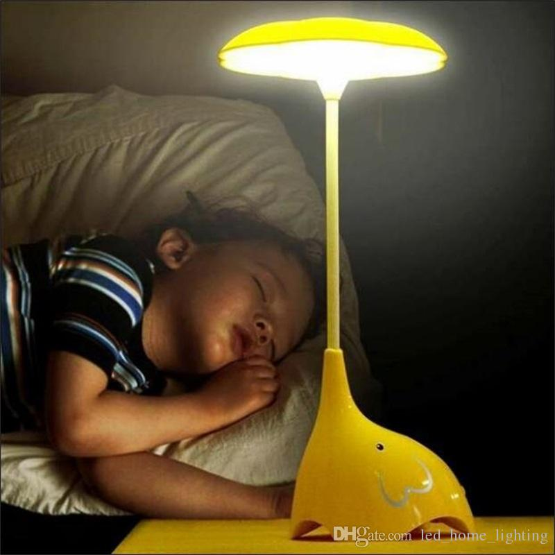 2019 Kids Children Room LED Night Lights Lamp Baby Bedroom Lamparas Novelty  Products Elephant Light Charging Battery Sensor Luminaria From  Outdoor_light, ...