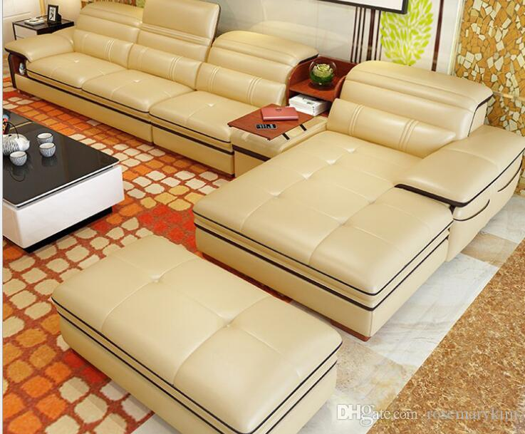 Leather Sofa Factory Direct Import Yellow Leather Sofa Sofa Corner Living  Room Sofa Leisure Leather Sofa Bag Part 43