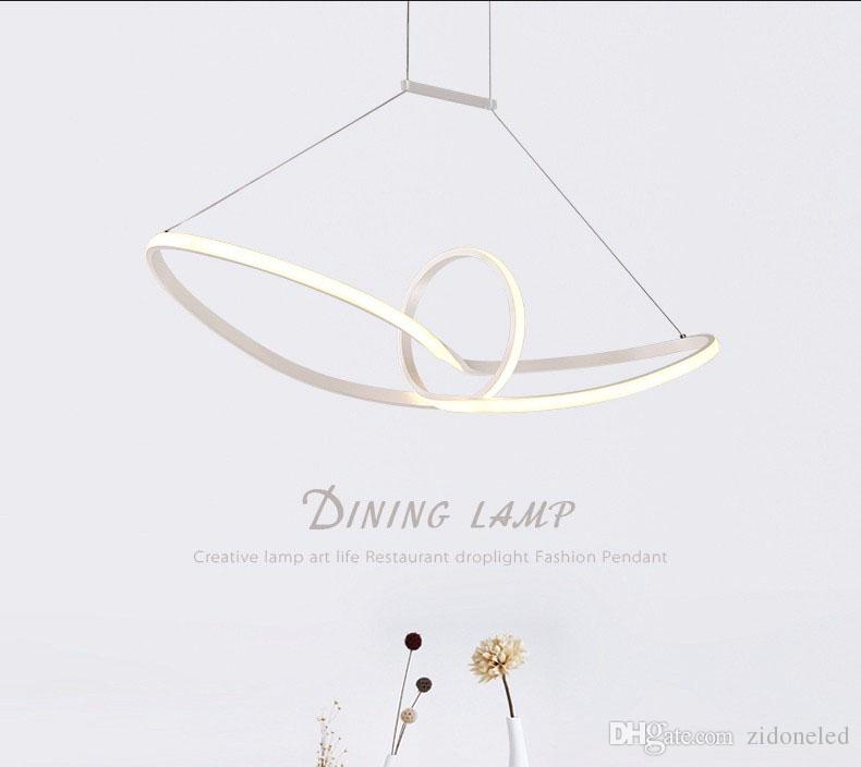 Modern Minimalist led pendant light Aluminum Infinity Suspension Hanging Chandeliers For Living Room Indoor Lighting Fixture AC90-265V