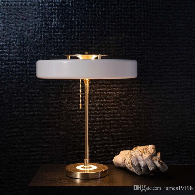 Lámpara de mesa moderna de Bert Frank Nueva lámpara de escritorio para el dormitorio Sala de estudio Sala de estar Envío gratis