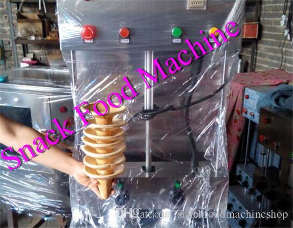 Elektrischer Whosesale Handels-Edelstahl-Pizza-Kegel-Form-Maschinen- / Pizza-Kegel-Hersteller mit Ofen-Maschine