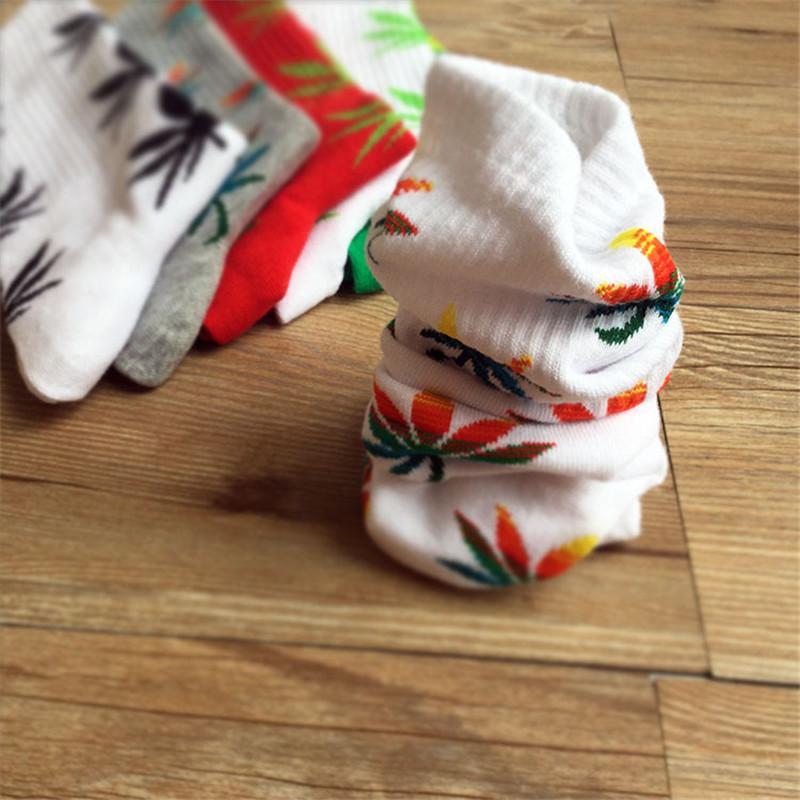 Men Socks Hotsale Men Socks Spring Autumn Summer Ankle 3D Prints Socks Bamboo Leaves Painting Pattern Cotton Sock Retro Harajuku Street NW02