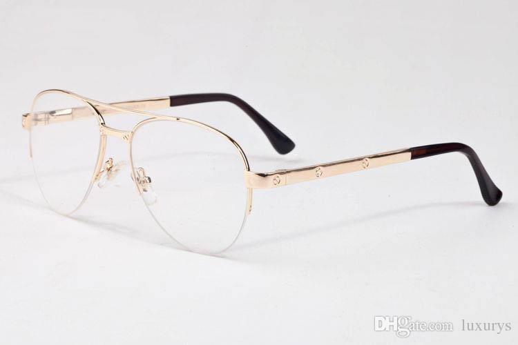 19992744156 Großhandel Designer Verschreibung Sonnenbrille Für Männer Marke Vintage  Rahmen Top Qualität Transparent Klar Runde Linse Brille UV Schutz Beliebten  Stil Von ...