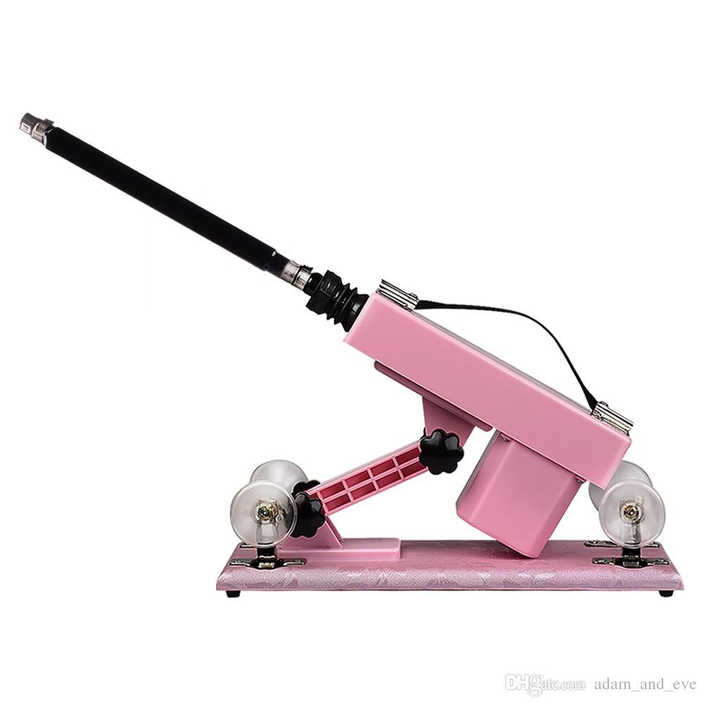 Robot sessuale rosa automatico di rapporto sessuale del sesso con la mobilia del sesso del collegamento del dildo le coppie Giocattoli del sesso