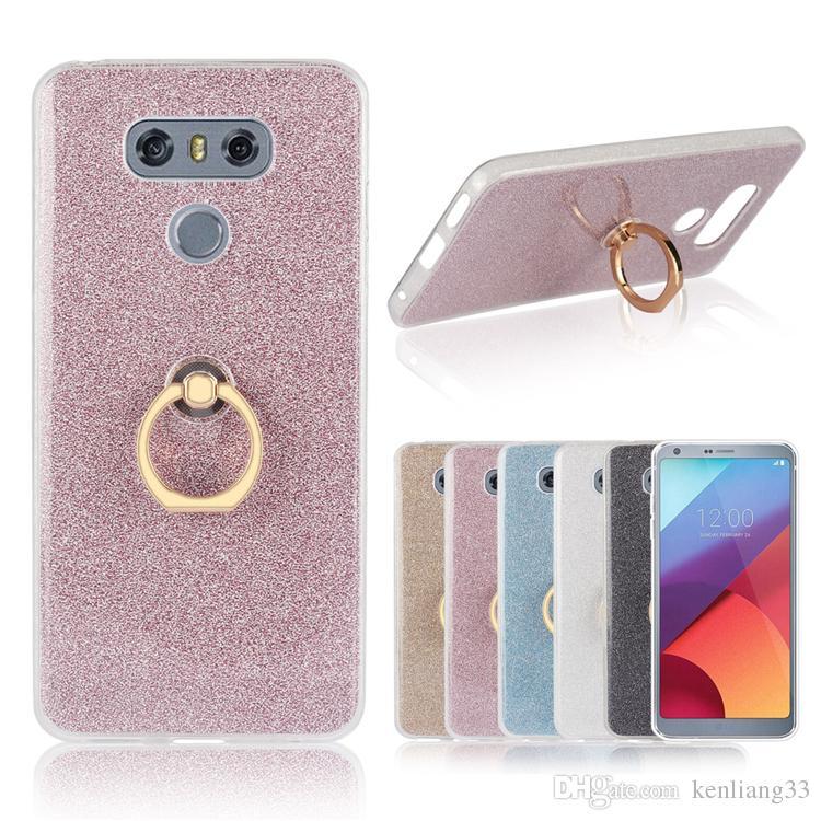 Bling Bling Case For LG G6 protective phone case ring holder for LG G6 phone case