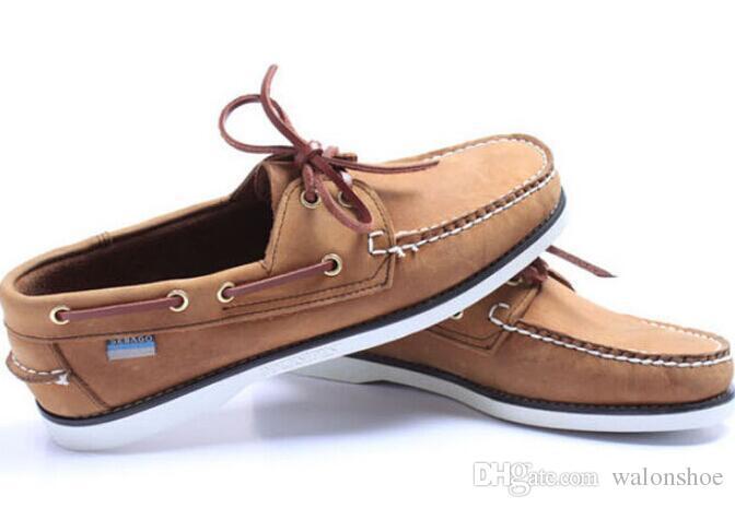 3f356d5b62d Compre Hombres Al Por Mayor De Gamuza Top Sider Mocasines Barco Zapatos  Para Hombre Azul Gamuza Barco Mocasines Hechos A Mano Zapatos De Cuero  Zapatos ...