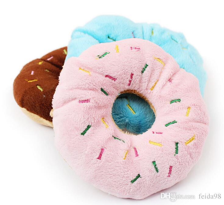 겉보기 사랑스러운 애완 동물 강아지 강아지 고양이 S 소리 Sound 소리 장난감 씹기 도넛 놀이 장난감 G856