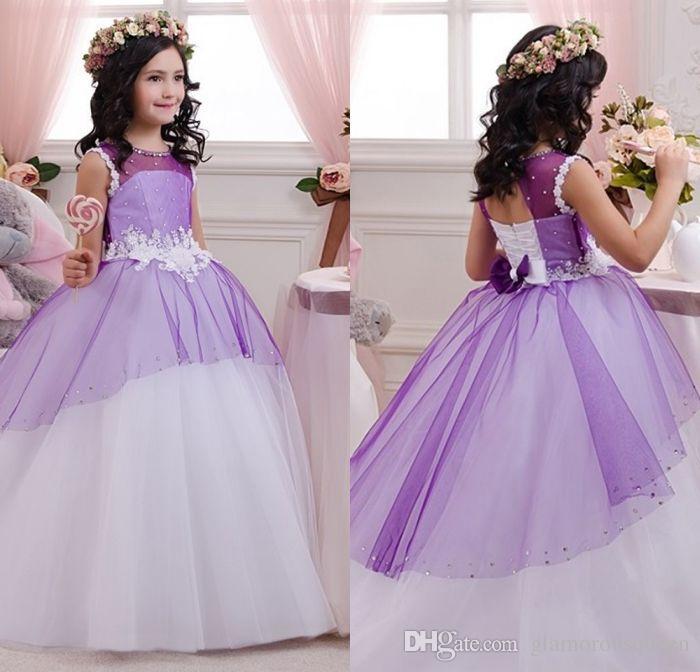 Großhandel Schöne Vintage Kommunion Kleid Kleider Kragen Kleine ...