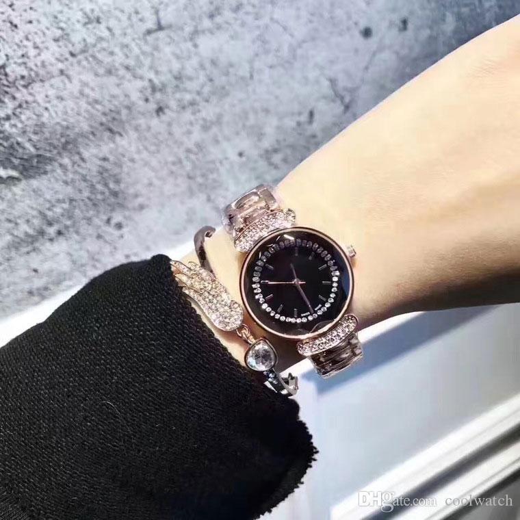6d4d3234d507 Compre Venta Caliente Top Brand Mujeres Reloj De Pulsera De Lujo Relojes De  Diamantes Vestidos Relojes De Pulsera Para Dama Niña Resistente Al Agua  Montre ...