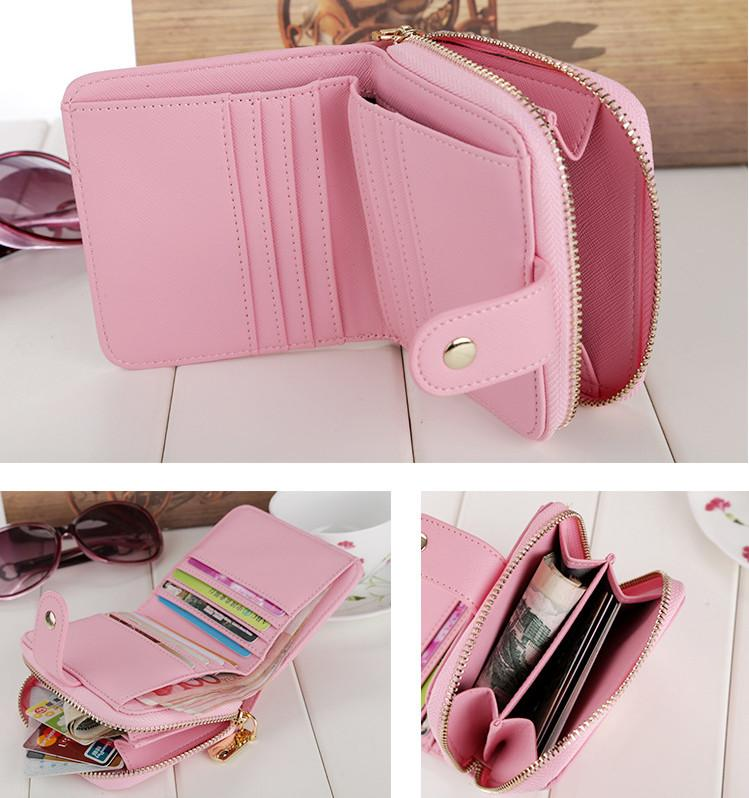 cefaaea69a7979 Wallet Female 2017 New Crown Lady Short Women Wallets Mini Money Purses  Fold PU Leather Bags Female Coin Purse Card Holder Cowboy Wallets Girl  Wallets From ...