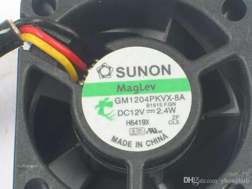 SUNON GM1204PKVX-8A B1515.F.GN DC 12V 2.4 W 3-wire 3-pin connector 40mm 40x40x20mm Server Square fan