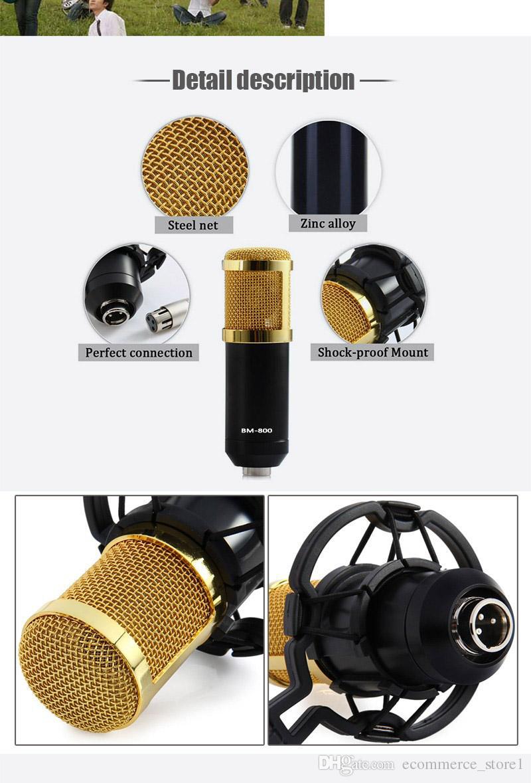 블랙 노래 라디오 Braodcasting에 대한 쇼크 마운트와 BM-800 고품질 전문 콘덴서 녹음 유선 마이크
