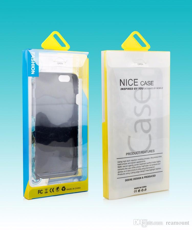 200 stücke freies schiff 2016 Einzelhandel Paket PVC Kunststoff Verpackung Box Boxen Für iPhone6s Handy Fall