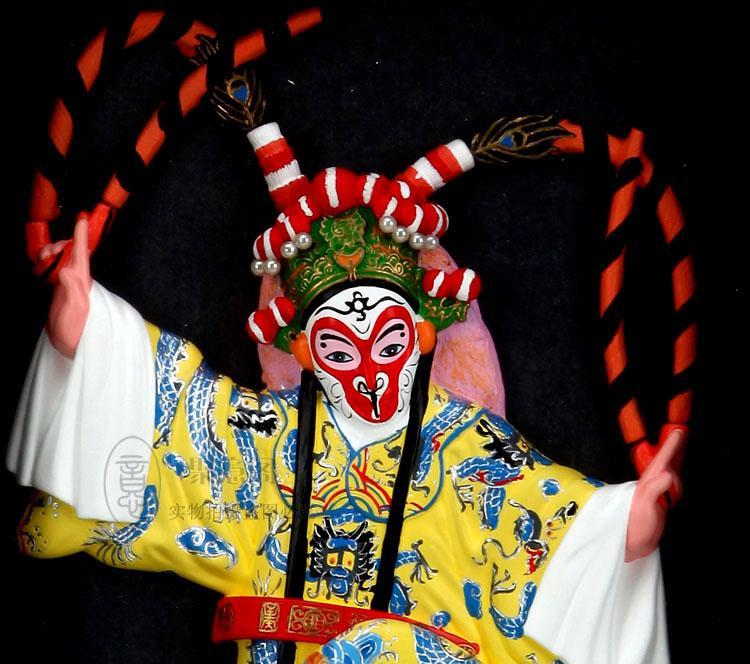 Figura incorniciata Opera di Pechino appeso - Sun Wukong cinese vento sfondo Decorazione ciondolo regalo di compleanno