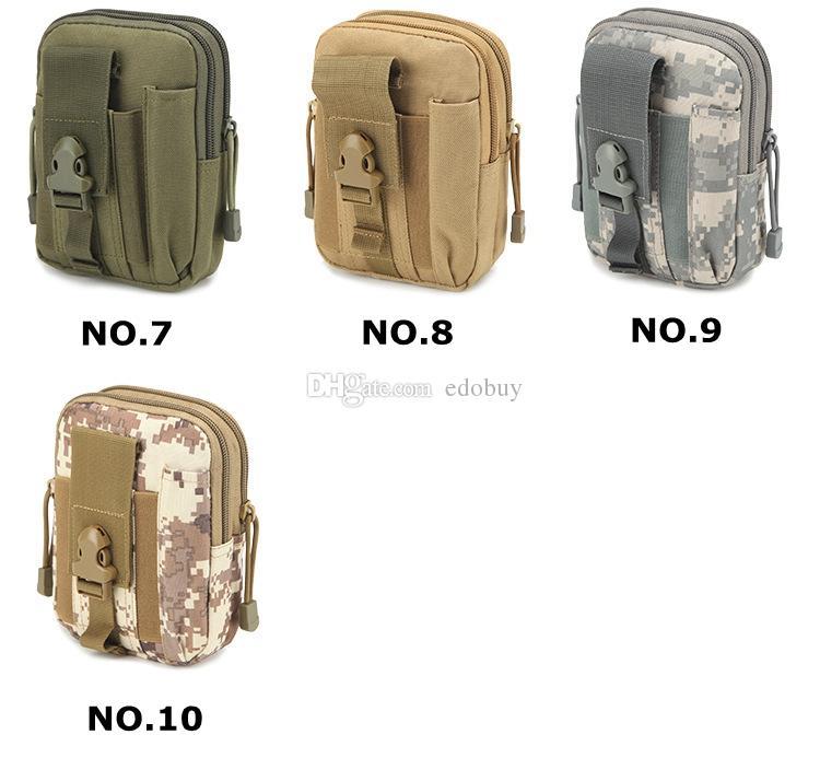 For iPhone/Samsung/LG Universal Outdoor Tactical Holster Military Molle Hip Waist Belt Bag Wallet Pouch Phone Case Zipper