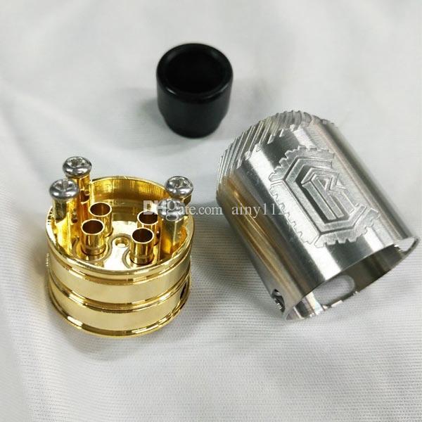 Nouveau Reload 24 RDA Atomizer Gold Post base 4 Post Peek isolant Reload rda Fit 510 E cig Mécanique Vape Mods DHL gratuit