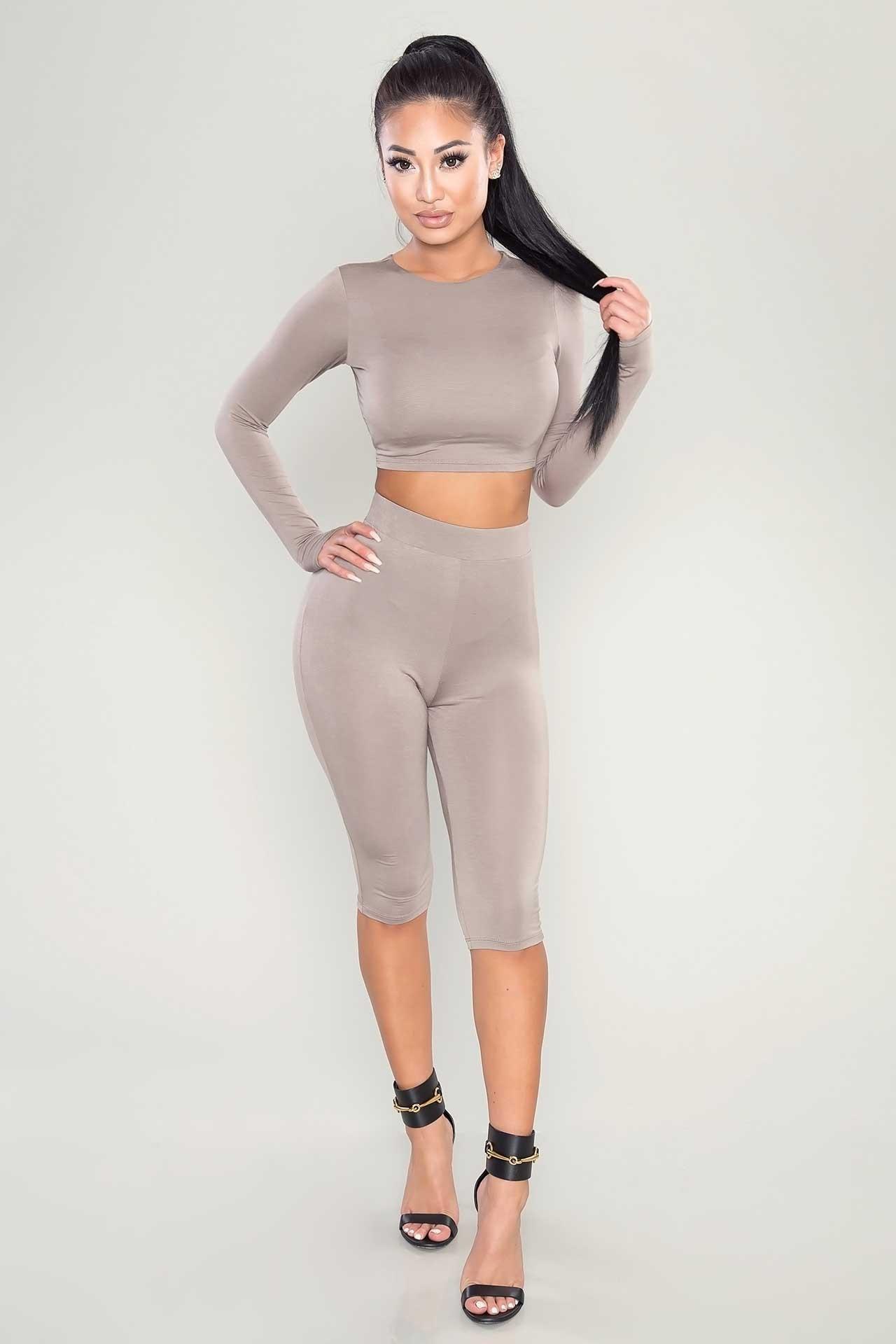 Women's Tracksuits T shirt+ pants women Sport suit Long sleeve crop tops and shorts set Color block women Bodycon Yoga sets