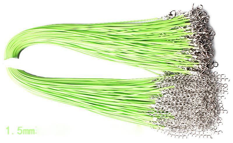 왁스 가죽 뱀 목걸이 구슬 밧줄 끈 밧줄 와이어 익스텐더 체인 랍스터 걸쇠 DIY 저렴한 쥬얼리