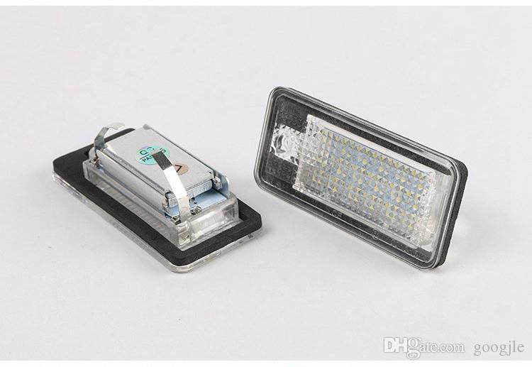 Auto 2 Pçs / lote Erro GRÁTIS 18 LED Número da licença do carro Plate Lâmpada de luz 12V para Audi A3 S3 A4 S4 B6 A6 S6 A8 S8 Q7