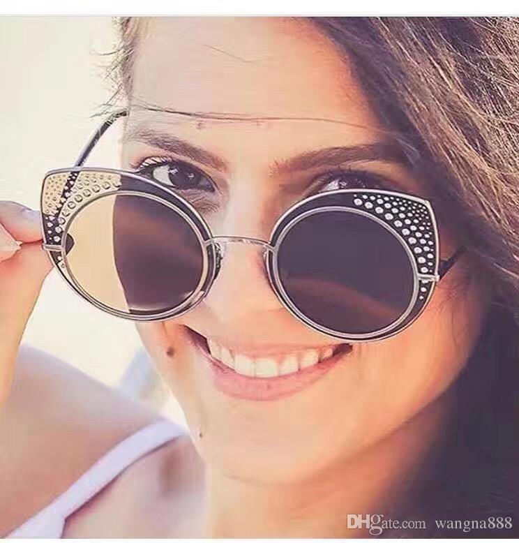new butterfly sunglasses M109 women brand designer sunglasses coating mirror lens cat eye frame bling stone summer style fashion sunglasses