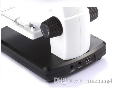 "UM038-1, HOT SELL 3.5"" LCD 8 LED True 5M Pixels 20-500x Digital Microscope with VGA OUTPUT Support MicroSD Card"